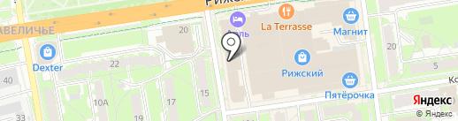 Олимпия на карте Пскова