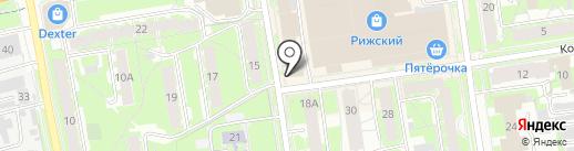 Мозаика-Данс на карте Пскова