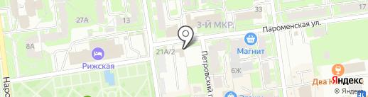 Старт на карте Пскова