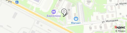 Гостиница на Юбилейной на карте Пскова