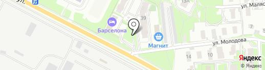 Вашинагорская на карте Пскова