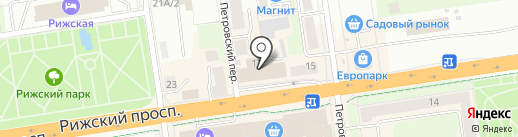 Кошелечек на карте Пскова