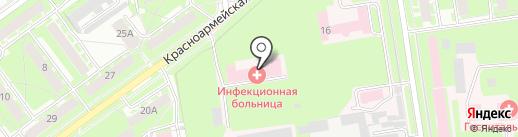 Городская больница №2 на карте Пскова