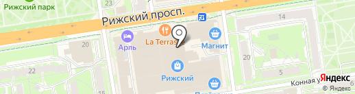 Псковские двери на карте Пскова