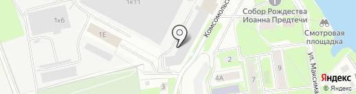 Гранит, ЗАО на карте Пскова