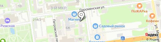 Интерьер на карте Пскова