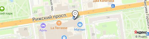 Продукты из Ермолино на карте Пскова
