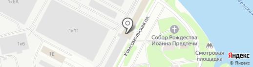 Скобарь-мебель на карте Пскова