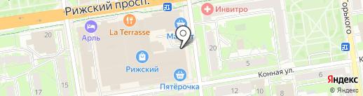 Бочонок на карте Пскова