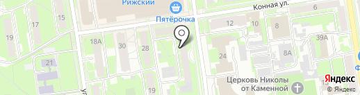 Псковская детская городская поликлиника №2 на карте Пскова