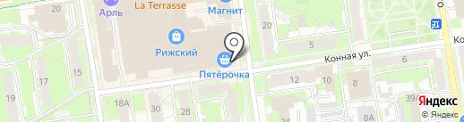 Киндер на карте Пскова