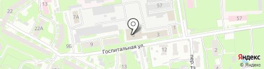 Бюро технической инвентаризации на карте Пскова