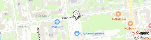 Шиномонтаж на Углах на карте Пскова