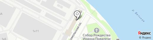 Департамент юридической помощи предпринимателям и гражданам на карте Пскова