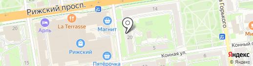 Псковская ремонтно-строительная компания на карте Пскова