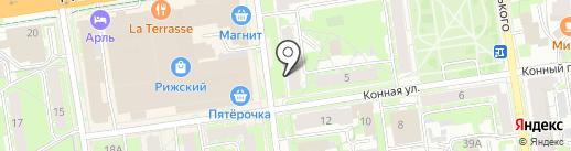 Правда окон на карте Пскова