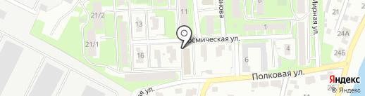 Силует на карте Пскова