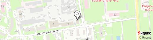 Центр контроля качества и сертификации лекарственных средств на карте Пскова