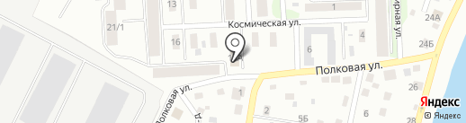 Сауна на Космической на карте Пскова