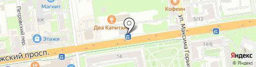 Деньга на карте Пскова