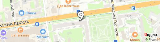 Магазин памятников на карте Пскова