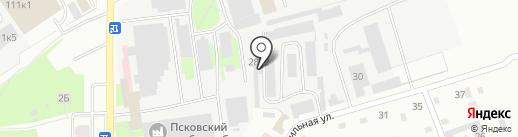 Механика на карте Пскова