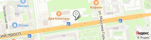 Материя на карте Пскова