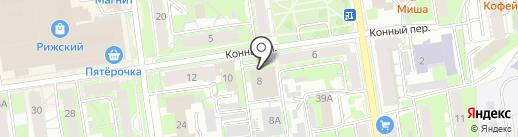Баня №5 на карте Пскова