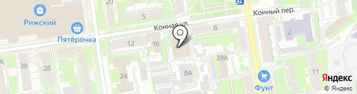 Катрин на карте Пскова