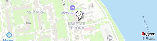 Автосервис в Интернациональном переулке на карте Пскова