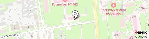 Военный гарнизонный госпиталь на карте Пскова