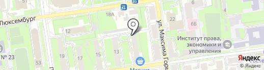 Адвокатский кабинет на карте Пскова