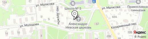 Храм Александра Невского на карте Пскова