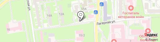 Военно-правой центр на карте Пскова