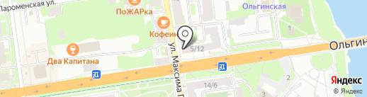 Пуэр на карте Пскова
