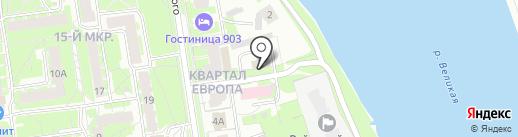 Ринг на карте Пскова