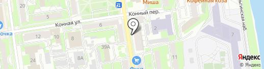 Атмосфера стиля на карте Пскова