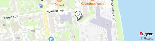 Электростройпроект на карте Пскова