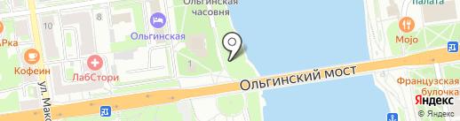 Изба на карте Пскова