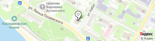 Церковь Воскресения Христова со Стадища на карте Пскова