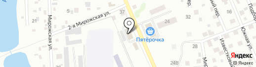 Продукты на карте Пскова