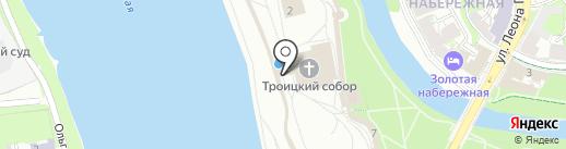 Свято-Троицкий собор на карте Пскова