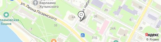 Центральная бухгалтерия на карте Пскова