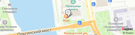 Mojo Gastrobar на карте Пскова
