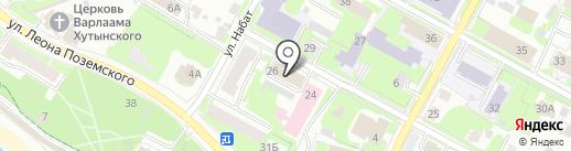 Отдел по работе с бюджетами сельских поселений на карте Пскова