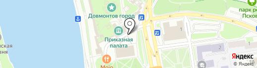Псковские сувениры на карте Пскова