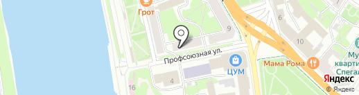 Экселент на карте Пскова