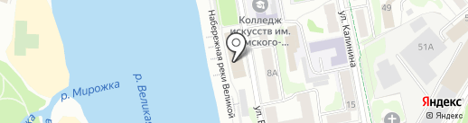 Ника на карте Пскова