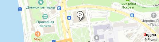 Триумф на карте Пскова