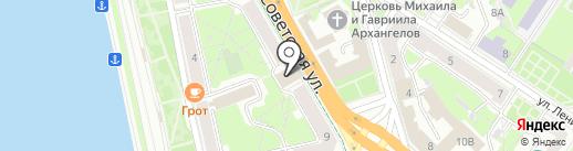 Управление Федеральной почтовой связи Псковской области на карте Пскова